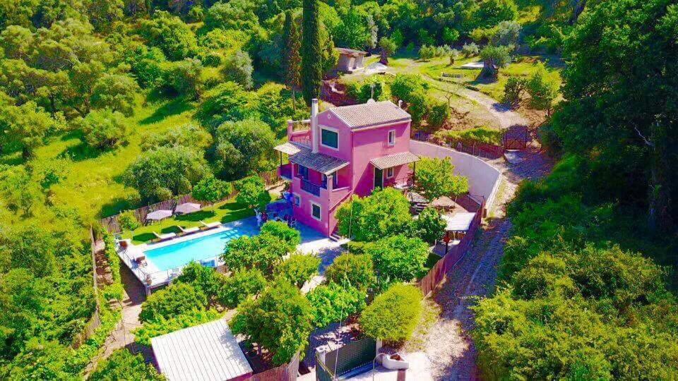 Άποψη από ψηλά του Casa Elisabetta Corfu