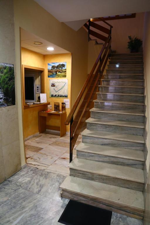 El vestíbulo o zona de recepción de Hostal Muralla