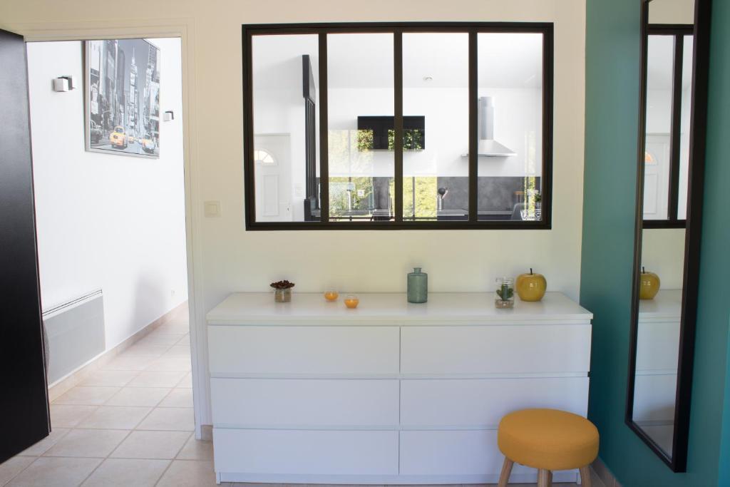 Salle de bains dans l'établissement Le loft du Clos d'Esquay