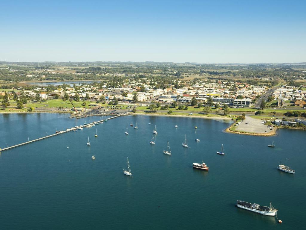 A bird's-eye view of NRMA Portland Bay Holiday Park