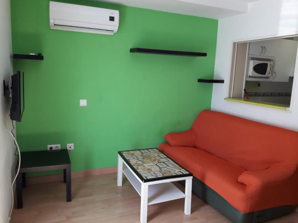 Zona de estar de Apartamentos Huelin Playa