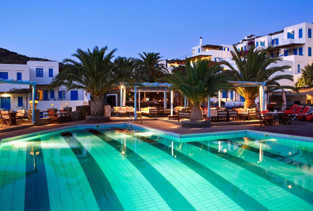 The swimming pool at or near Alexandros Hotel