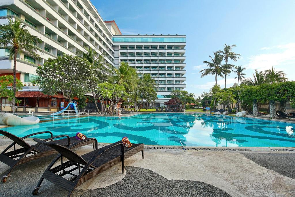 The swimming pool at or near Inna Grand Bali Beach
