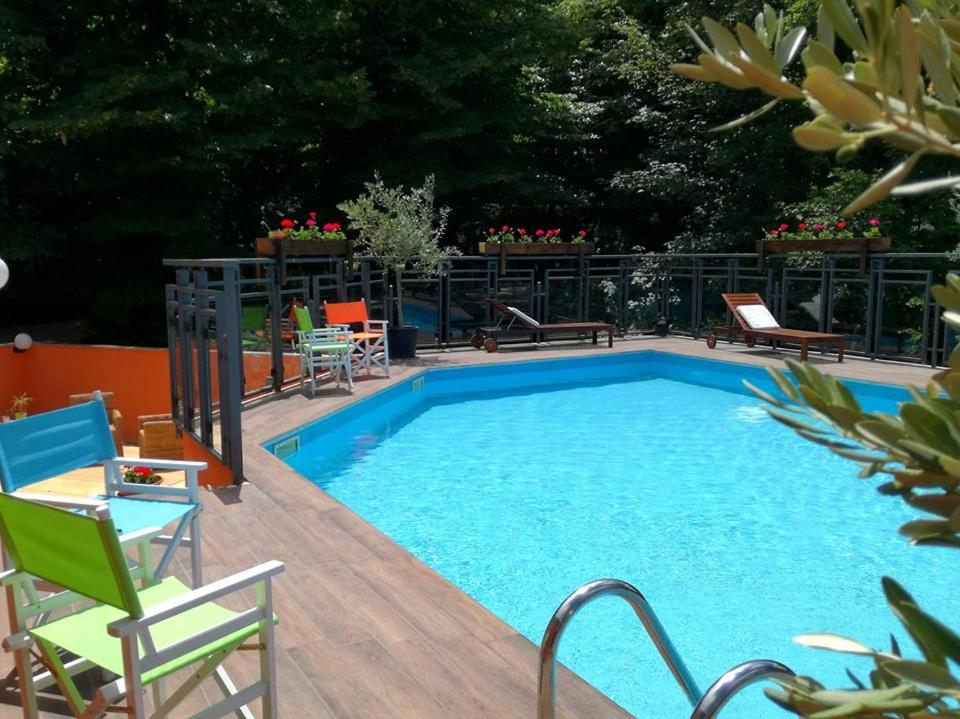 The swimming pool at or near Hotel Arimannia