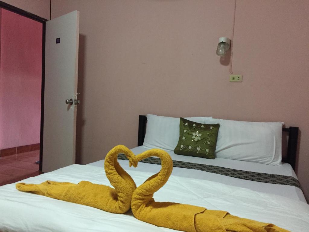 Cama o camas de una habitación en Marina Ao Nang Guesthouse