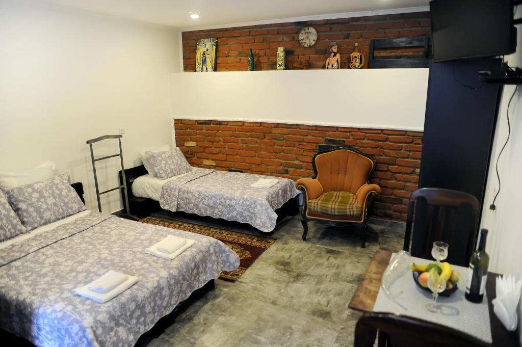 Кровать или кровати в номере Old Vera