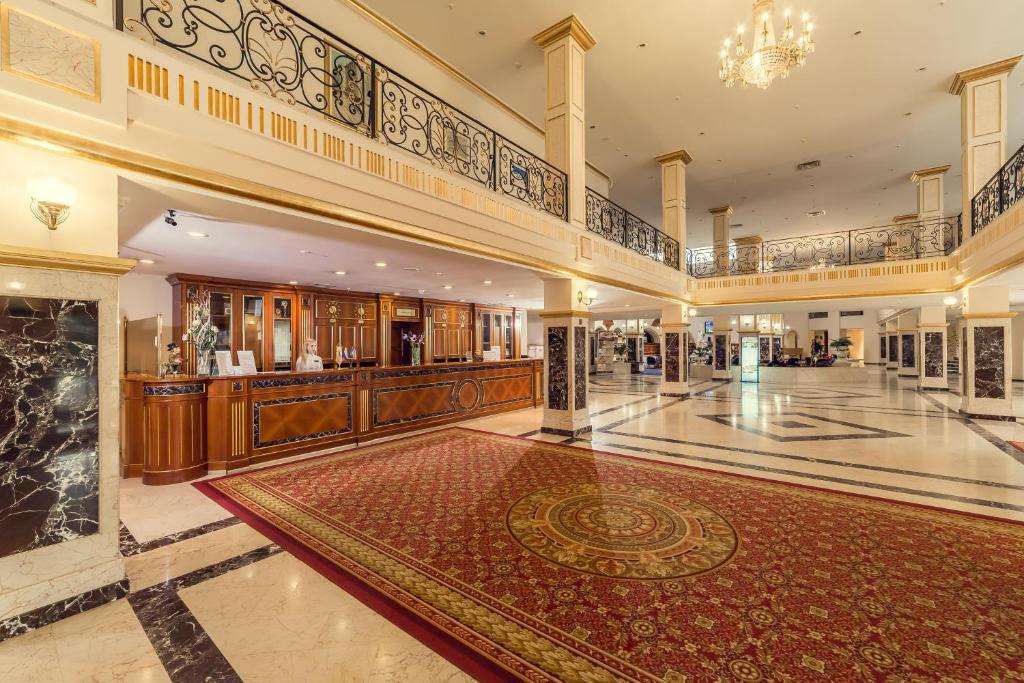 The lobby or reception area at Hotel Vatutinki