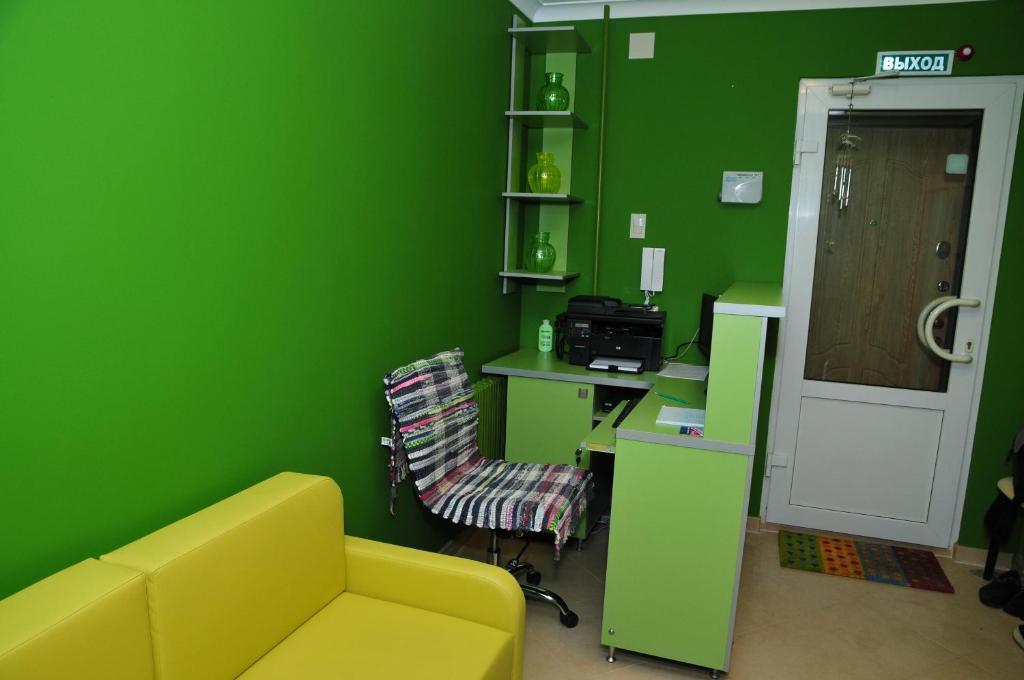 Гостиная зона в Green Hostel Kislovodsk