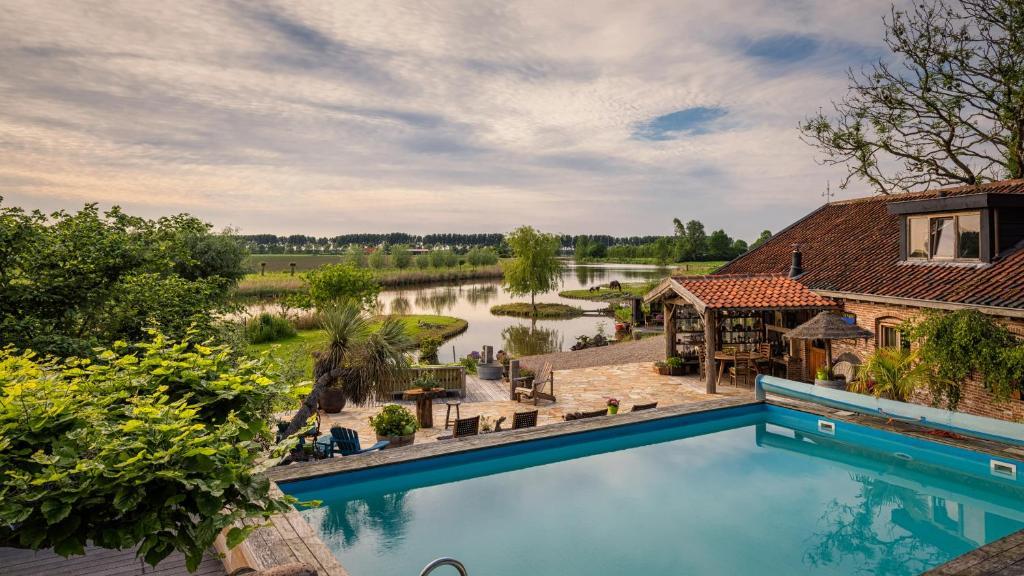 Swimming pool sa o malapit sa Guesthouse Ensenada