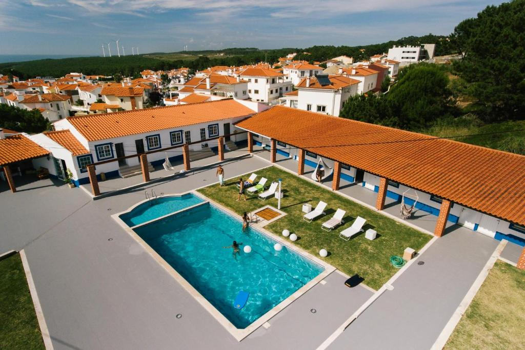 A view of the pool at Zulla Nazaré`s Surf Village or nearby