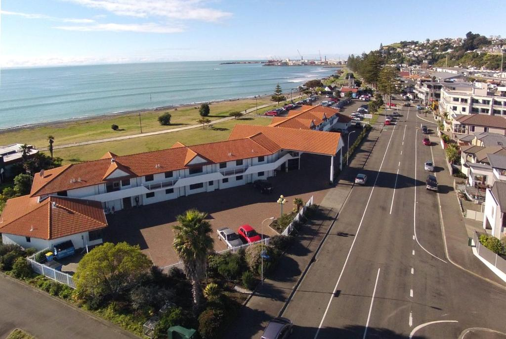 A bird's-eye view of Harbour View Seaside Accommodation Napier