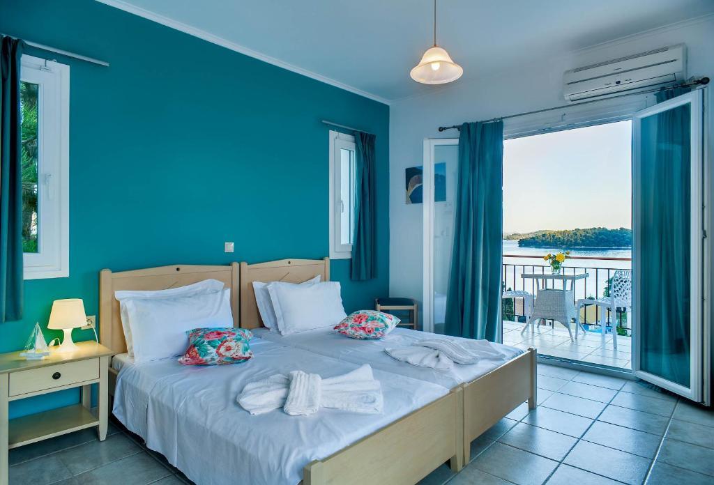 سرير أو أسرّة في غرفة في San Lazzaro