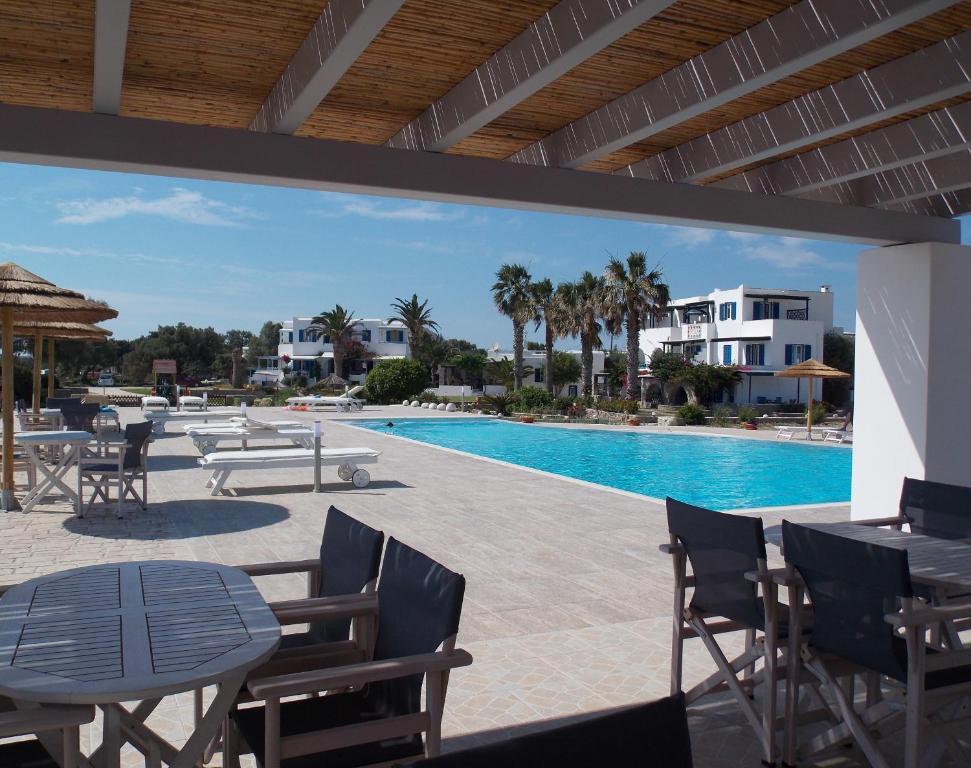 The swimming pool at or near Stella Naxos Island