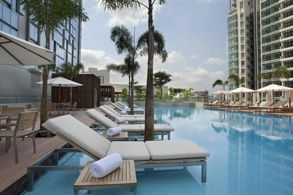 The swimming pool at or near Oasia Hotel Novena, Singapore by Far East Hospitality