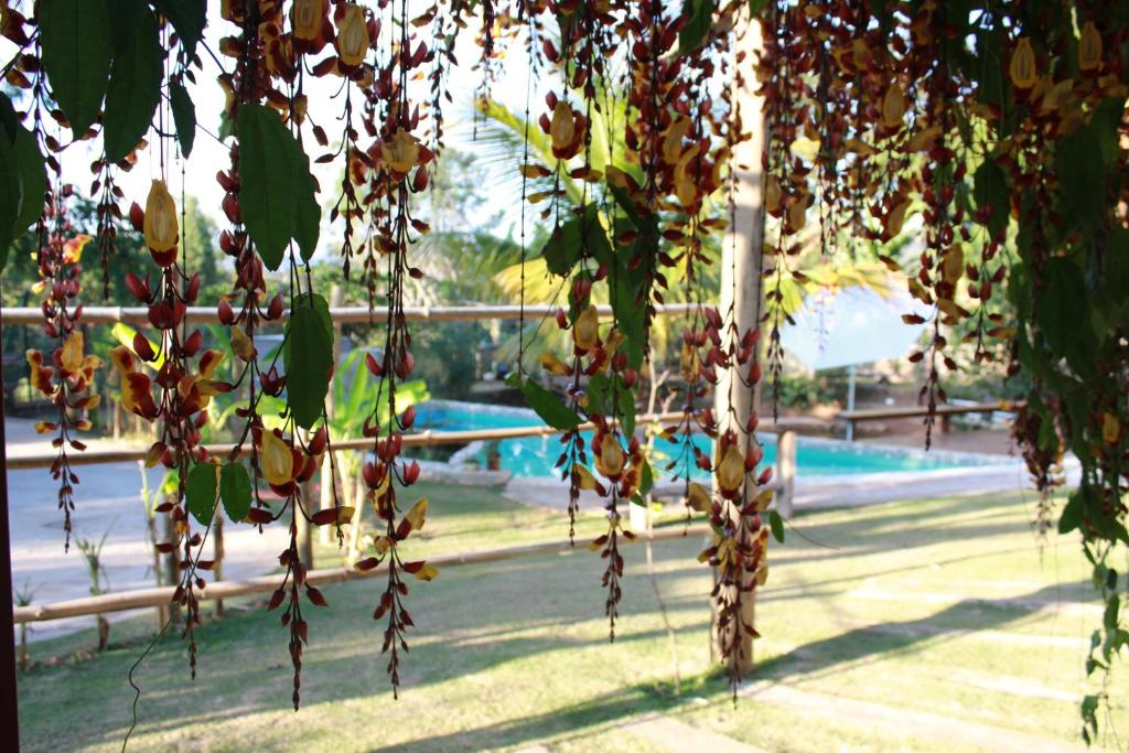 The swimming pool at or near Recanto da Estação São João