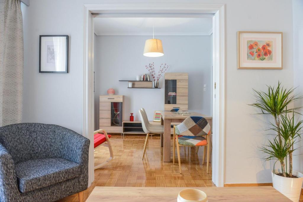 Χώρος καθιστικού στο City apartment 17