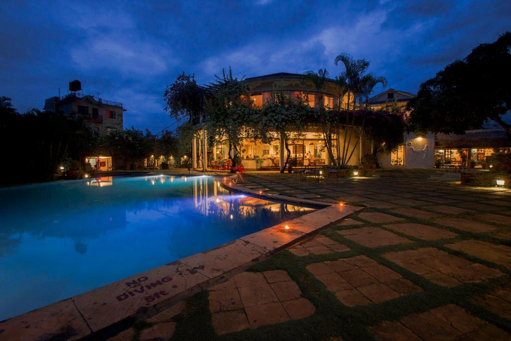 The swimming pool at or near Shangri-La Village Resort, Pokhara