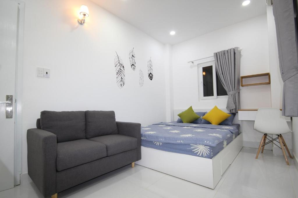 Ein Sitzbereich in der Unterkunft Smiley Apartment 9