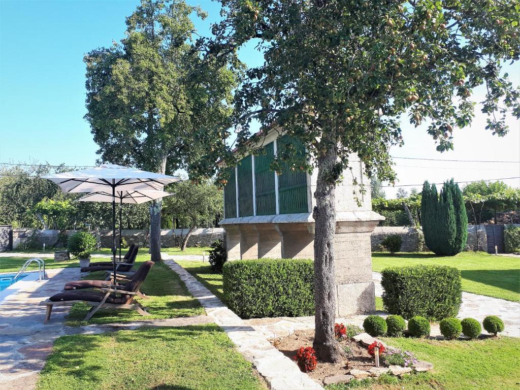 Jardín al aire libre en Torres de Moreda