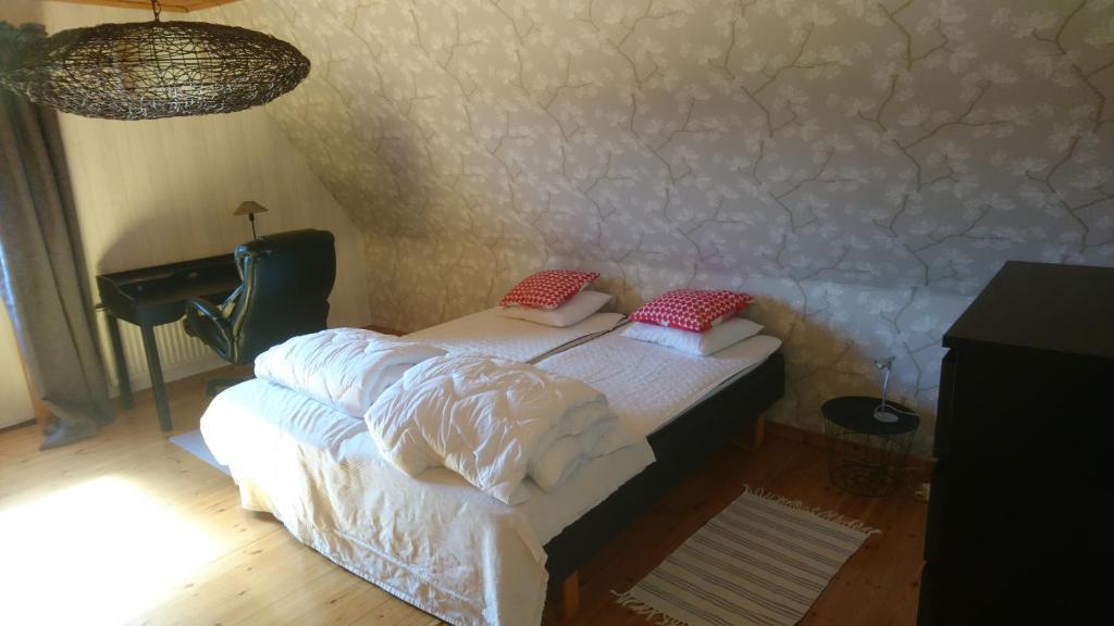 Säng eller sängar i ett rum på Torp Källtorp B&B