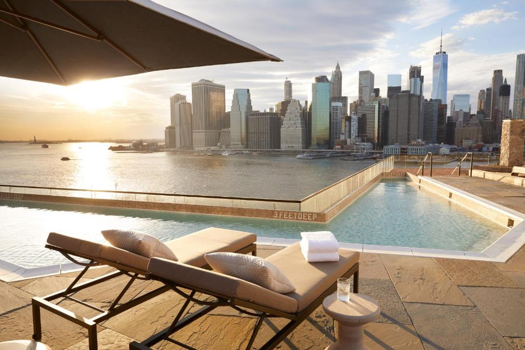 The swimming pool at or near 1 Hotel Brooklyn Bridge