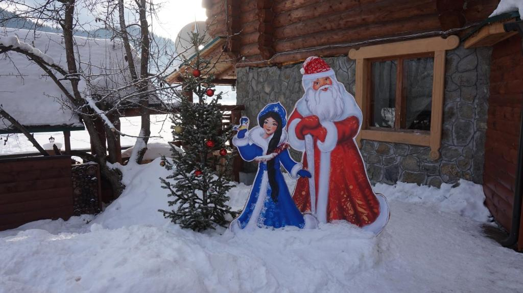 Guest house Aru-Kiol' during the winter