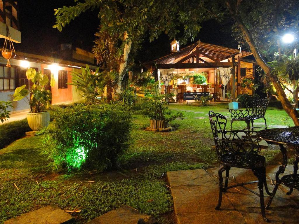 A garden outside Pousada Caúca