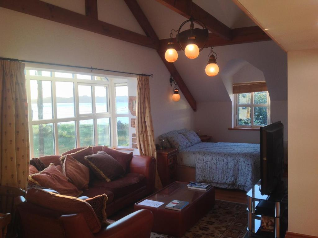 A seating area at The Moorings B&B