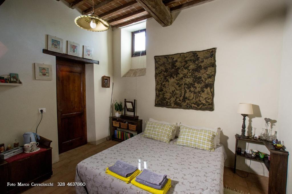 Letto o letti in una camera di Il Bosso di Toscana