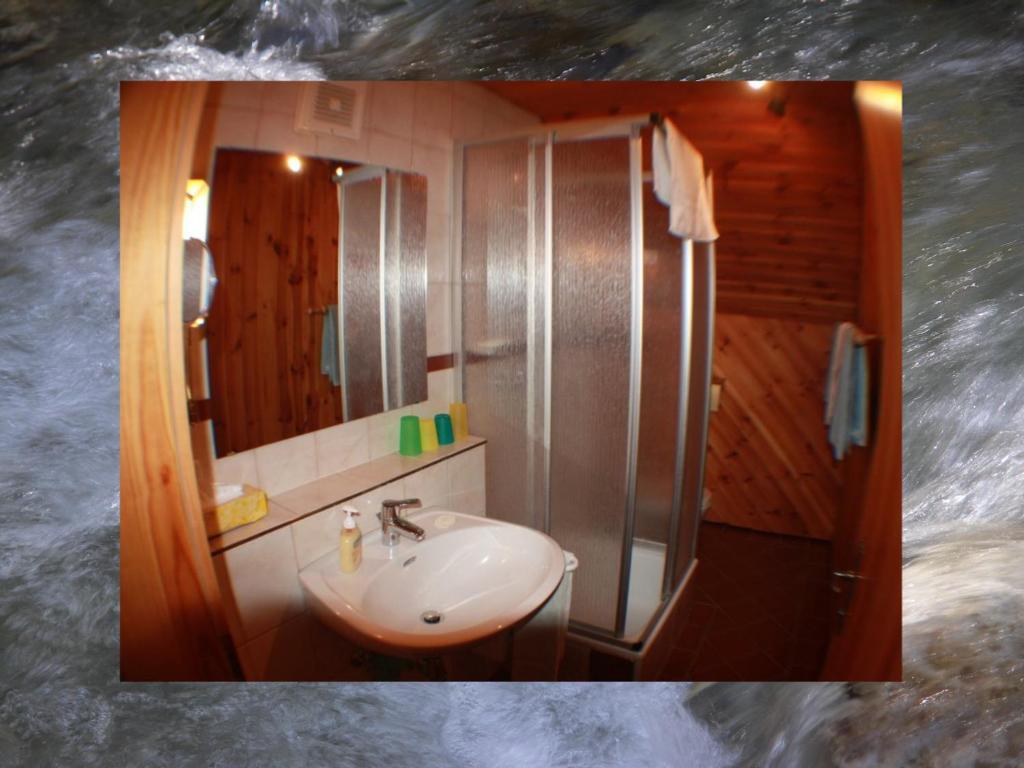 Ein Badezimmer in der Unterkunft Appartements Kofler