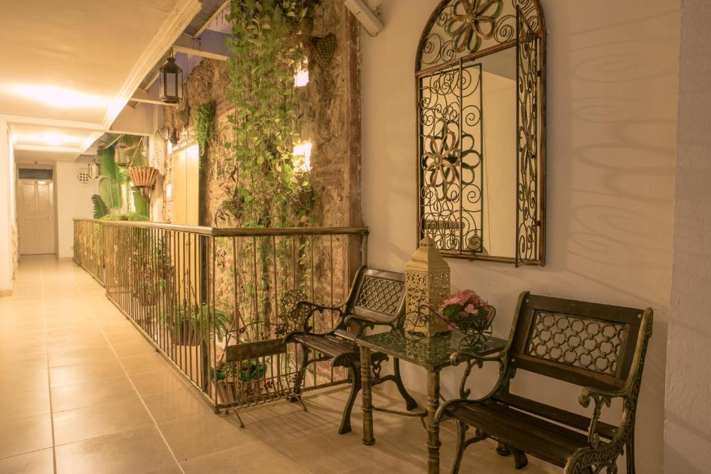 The lobby or reception area at Casa Mary