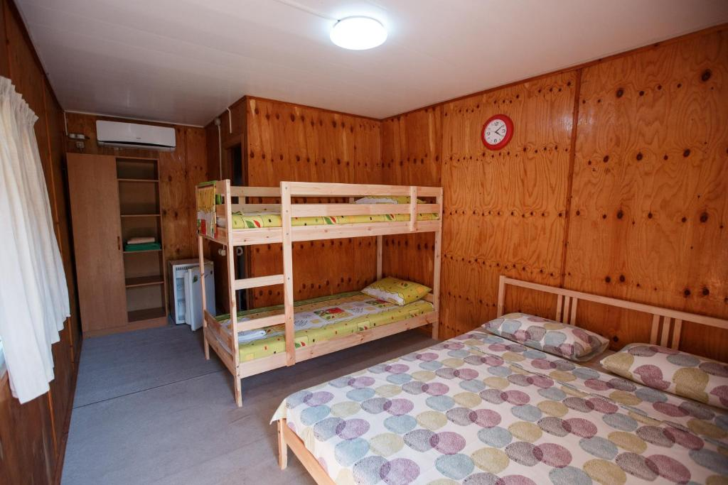 A bunk bed or bunk beds in a room at Letnyaya Dacha
