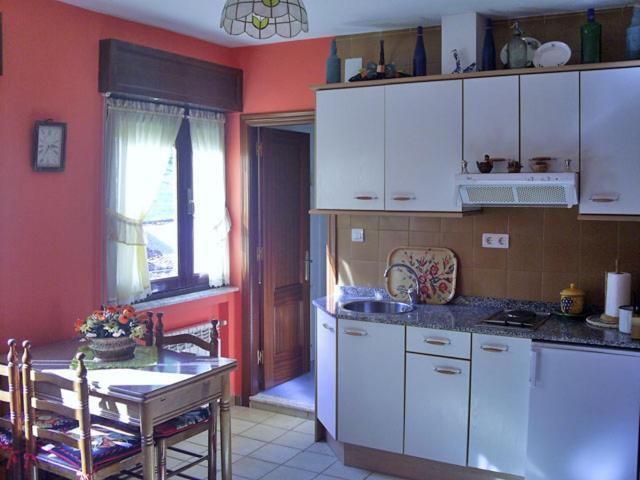 A kitchen or kitchenette at Apartamentos Peña Ubiña