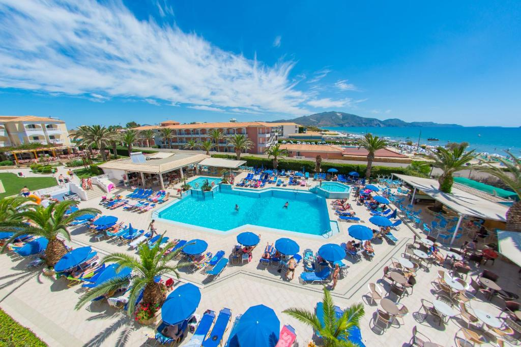A view of the pool at Poseidon Beach Hotel or nearby