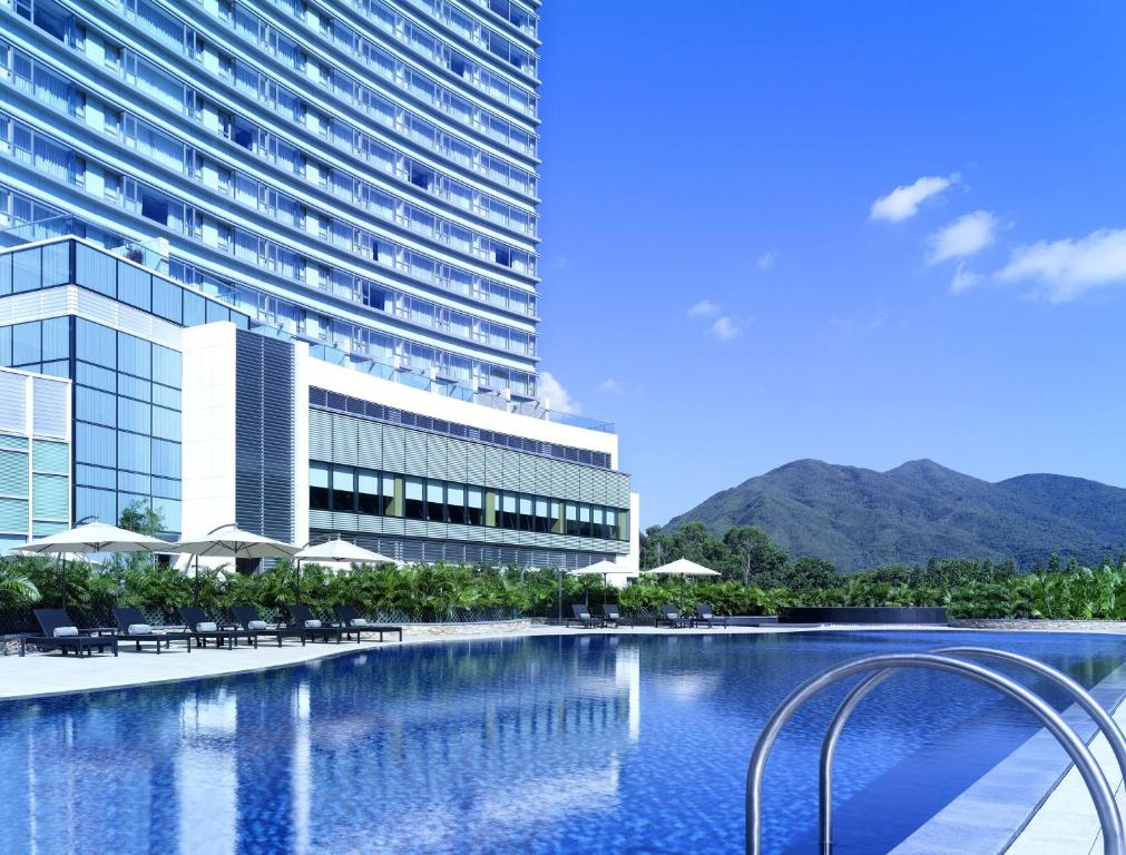 The swimming pool at or close to Hyatt Regency Hong Kong, Sha Tin