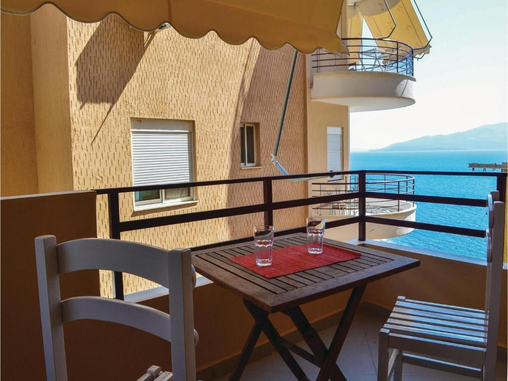 A balcony or terrace at Apartment Sarande with Sea View 7