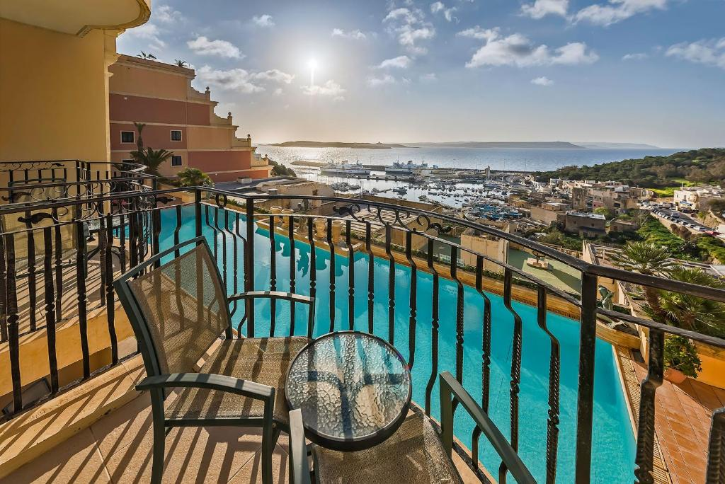 A view of the pool at Grand Hotel Gozo or nearby
