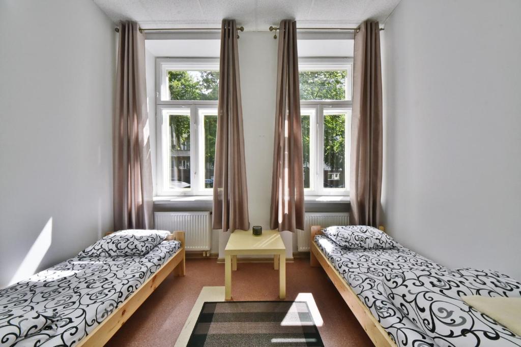 Postelja oz. postelje v sobi nastanitve Laisves Avenue Hostel