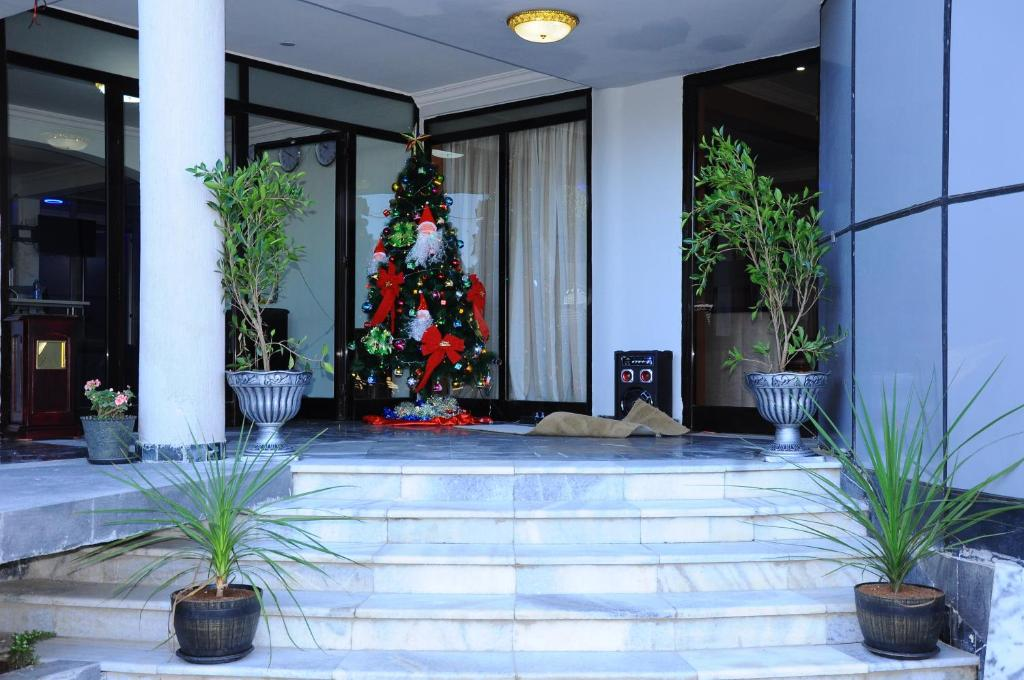 The lobby or reception area at North Addis Hotel