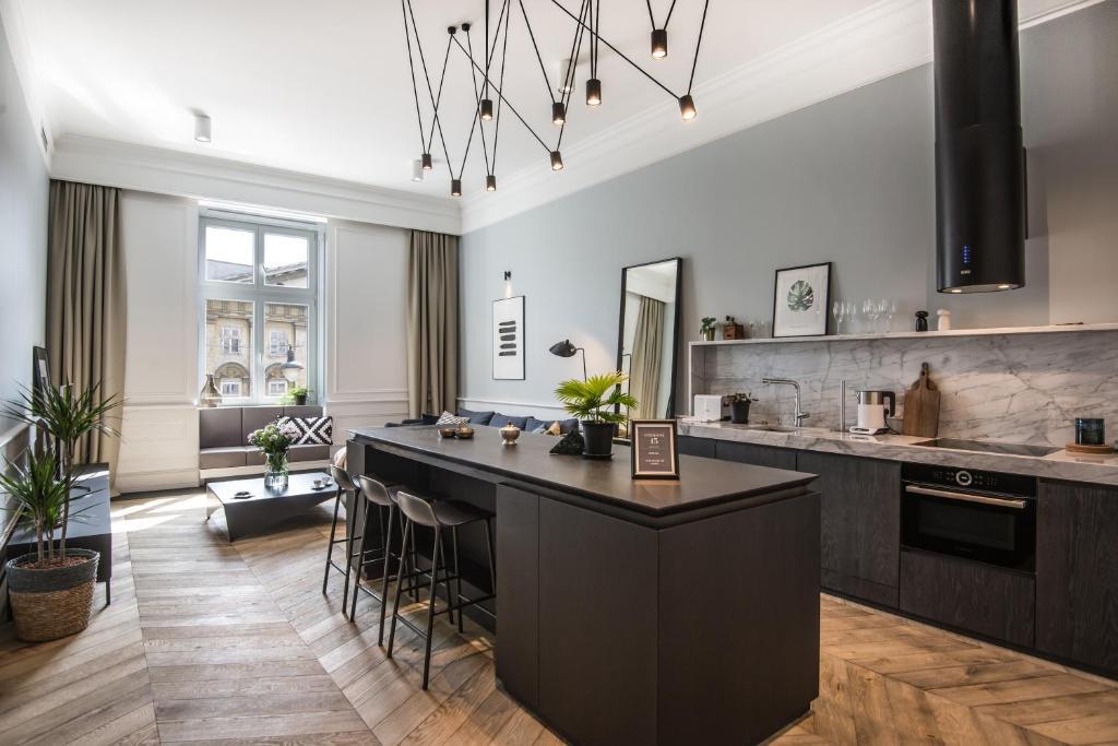 Virtuvė arba virtuvėlė apgyvendinimo įstaigoje Stradom 15 Apartments
