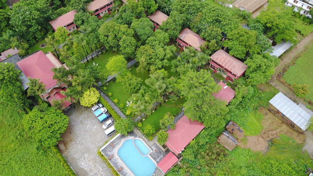 A bird's-eye view of Hotel Parkland