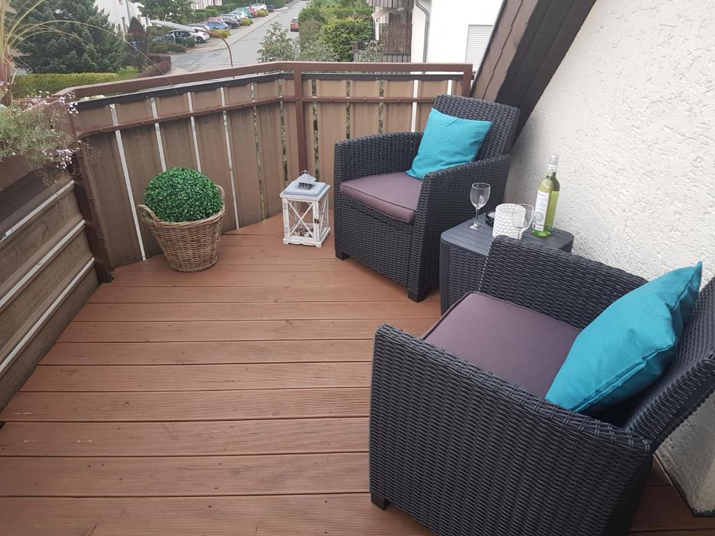A balcony or terrace at Harzhome
