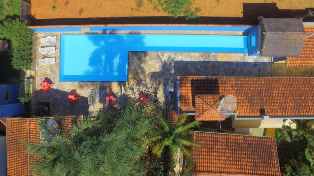 Uma vista da piscina em Pousada Rosa dos Ventos ou nos arredores