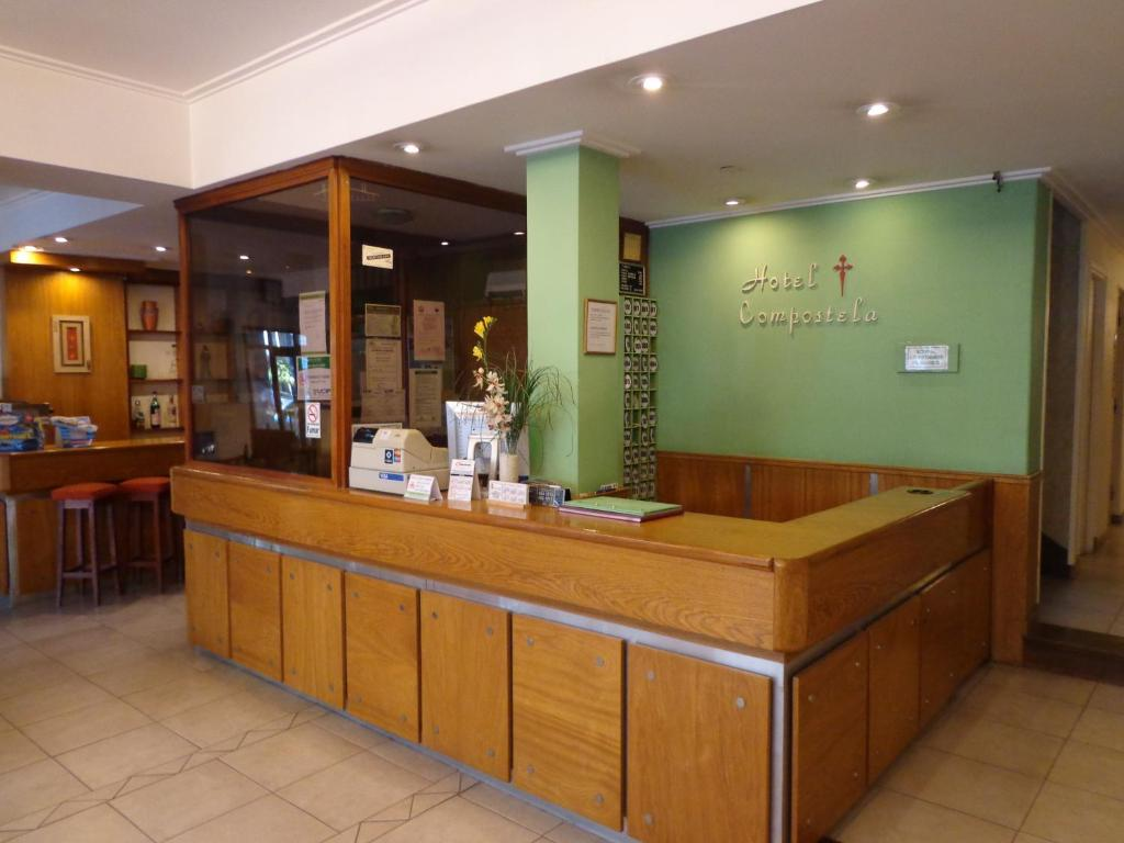 The lobby or reception area at Hotel Compostela