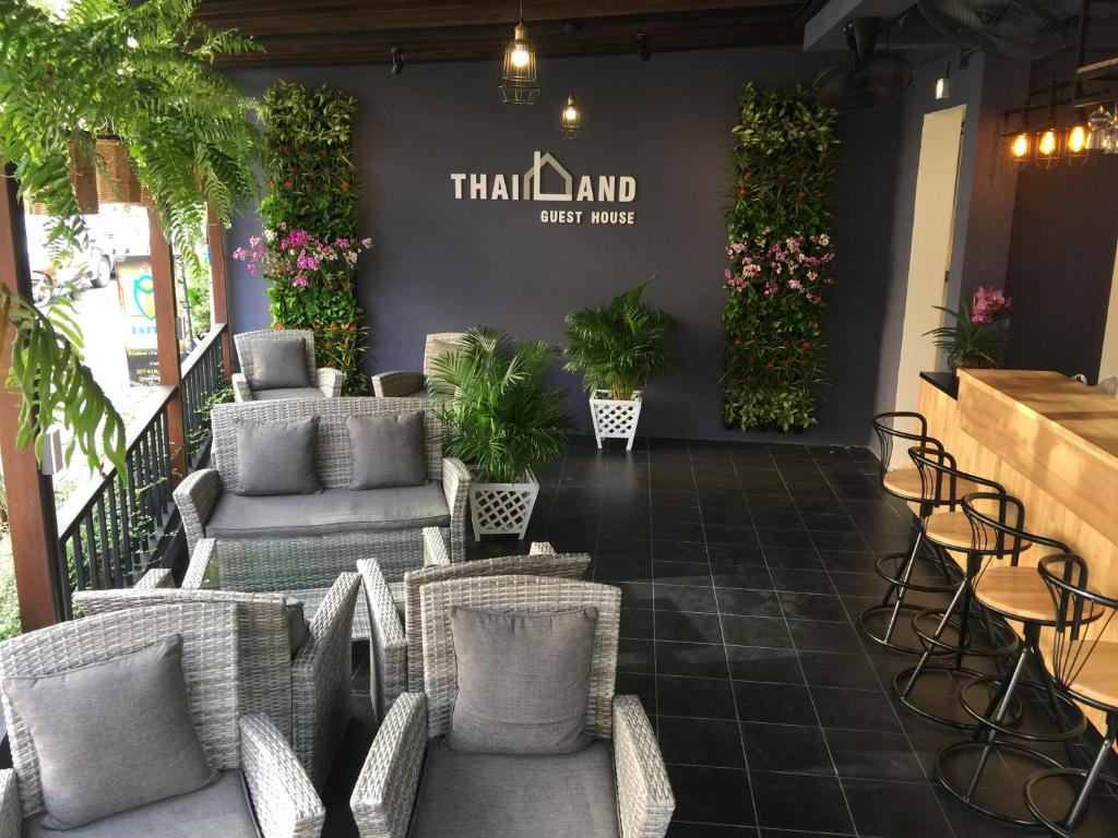 The lobby or reception area at Thailand Guest House