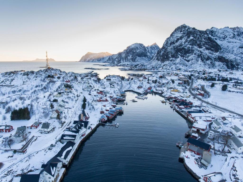 Lofoten Rorbuhotell during the winter