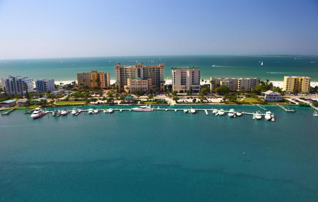 A bird's-eye view of Pink Shell Beach Resort & Marina