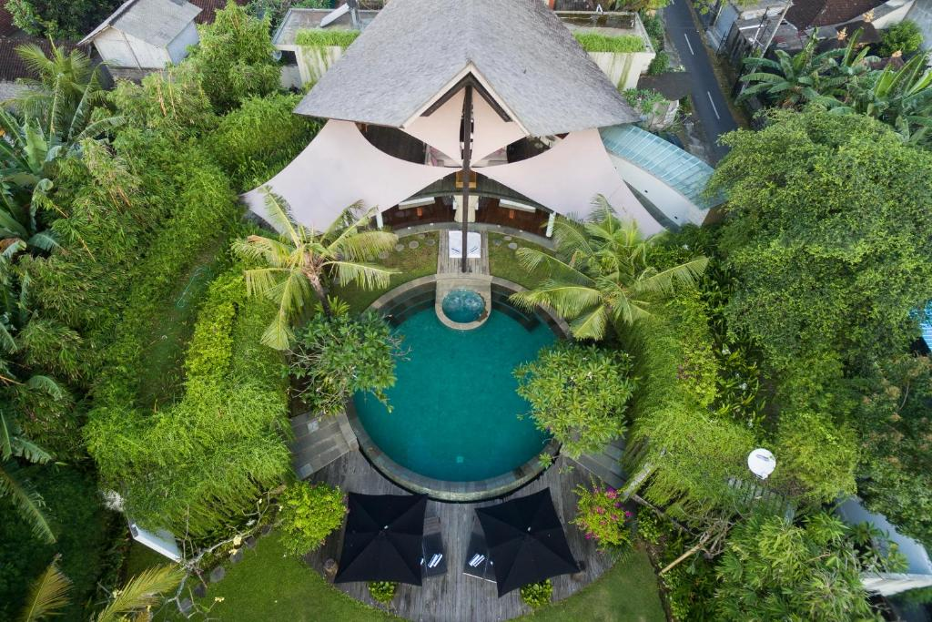 A bird's-eye view of Toraja Villa