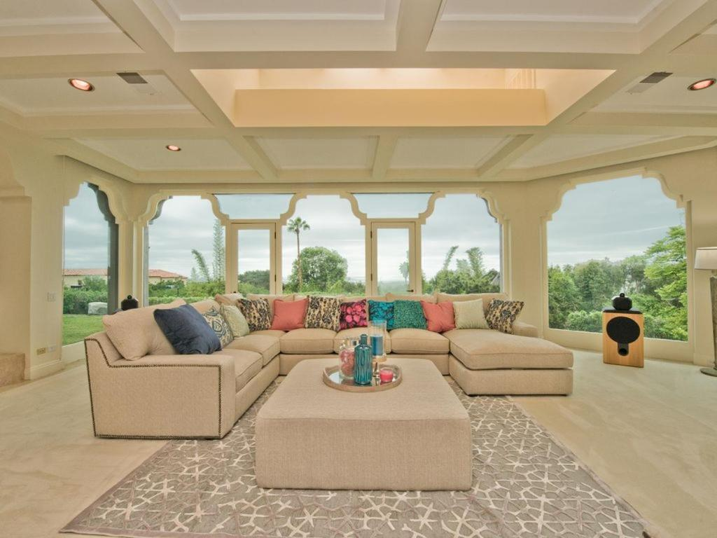 A seating area at Spectacular $12Mill Beach Mansion-Clear Ocean View