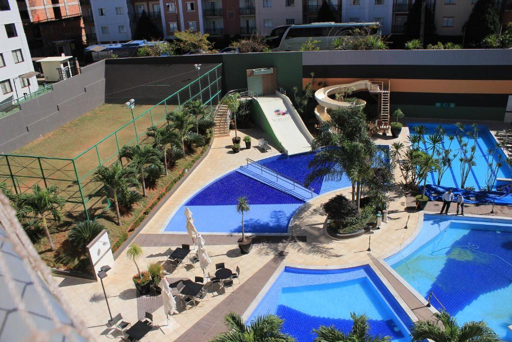 A view of the pool at Flat 423- Veredas do Rio Quente or nearby